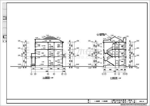 某农村三层小别墅建筑设计施工图纸图片