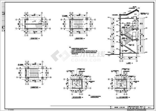 某農村三層小別墅建筑設計施工圖紙