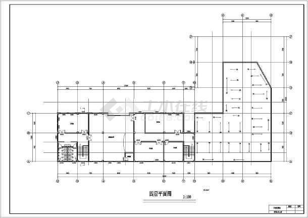 某地四层框架结构村委会建筑方案设计图