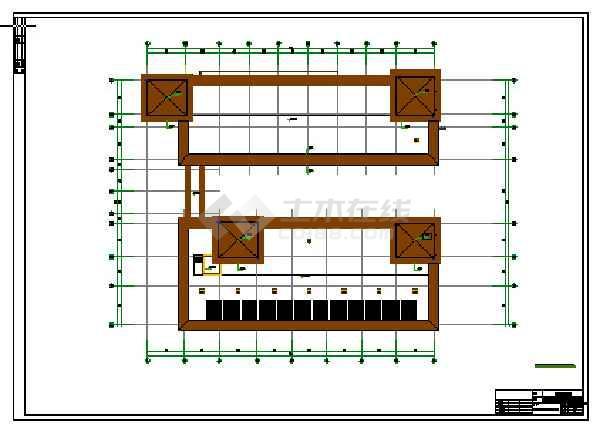 某地四层全套结构框架医院v全套消防施工图_c施代码图纸图结图片