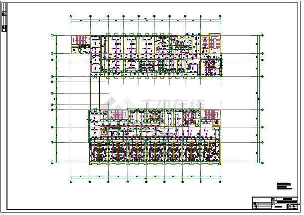 某地四层框架医院全套结构排水消防施工图_c建出设计米自租房1010米图纸图片