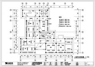 【浙江】某卫生院装修设计施工图纸吗图纸打图片