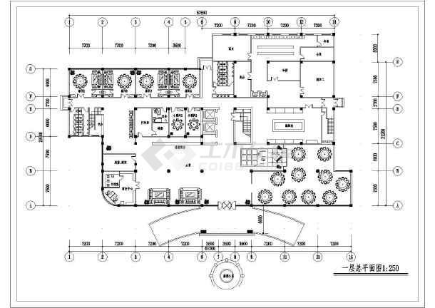 酒店厨房平面布置图