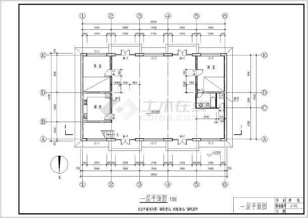 某二层农村住宅建筑设计图(长20米 宽12米)
