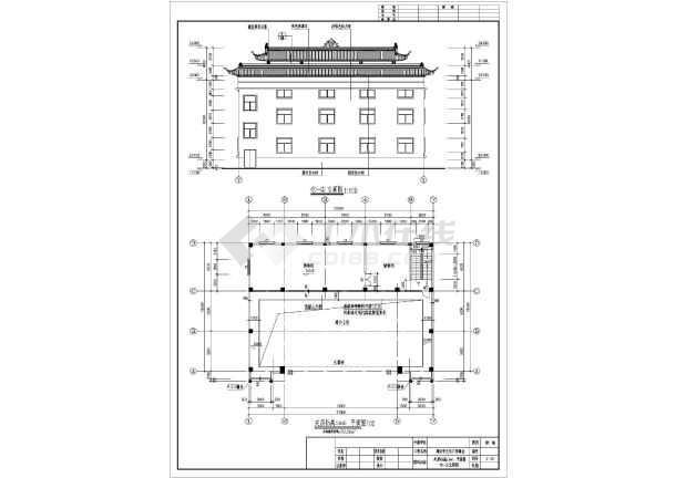 3层框架结构仿古舞台施工图