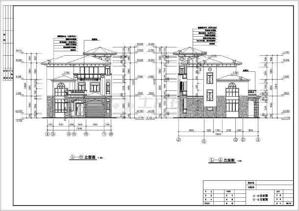 本图纸为:某三层山区别墅建筑设计图(长16.5米 宽13.
