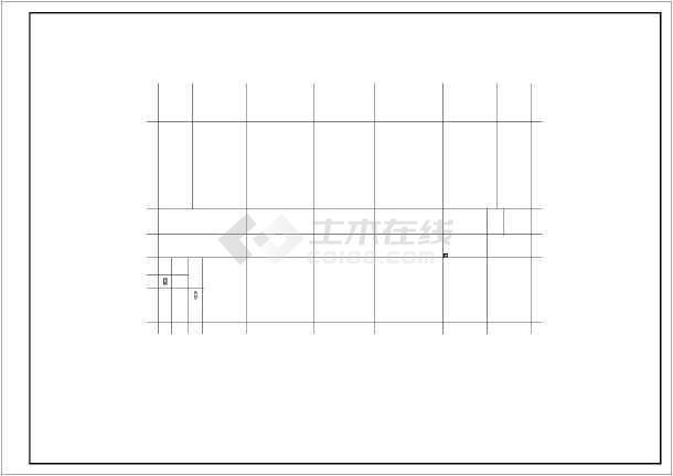 小型办公楼建筑施工图(1500平米)_cad图纸下cad怎么中的快捷键改变颜色表格图片
