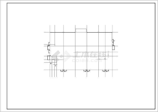 小型办公楼建筑施工图(1500平米)_cad符号下cad桥梁图纸图片