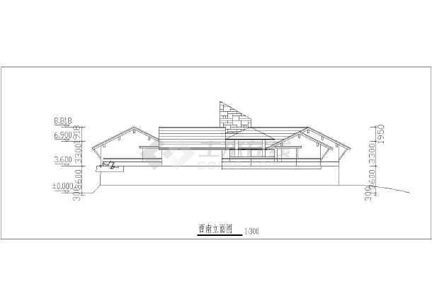 某地区总统别墅方案图(含建筑面积)-图1