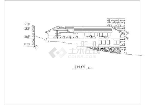 某地区总统别墅方案图(含建筑面积)-图2