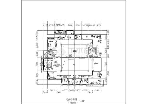 某地区总统别墅方案图(含建筑面积)-图3
