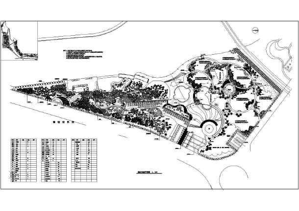 道路植物配置平面图  本图纸为:某市公园植物绿化平面配置设计图纸