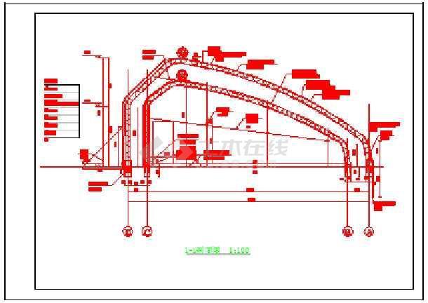 非常实用的12-80m大棚设计cad施工图纸