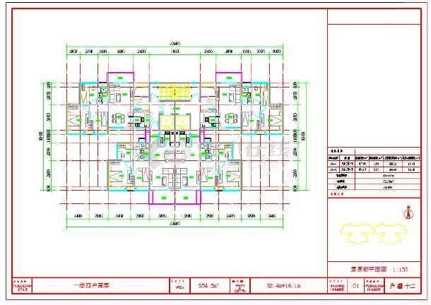 80平方米房屋平面设计图 (610x432)-三户单独房屋