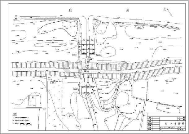 图纸 水利工程设计图 闸门启闭机 水闸相关 某处小型涵闸工程平面布置