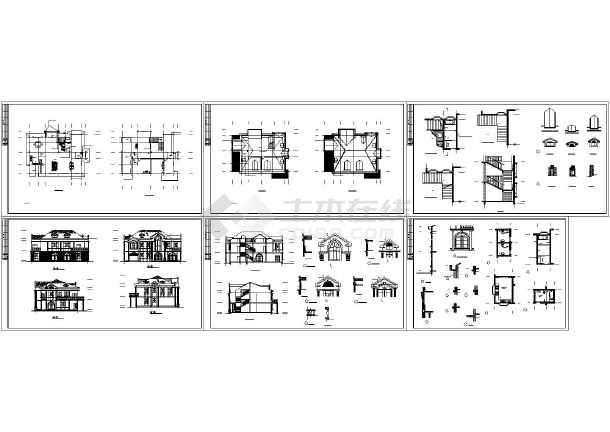 五间二层楼房设计图