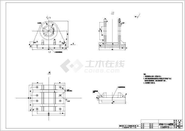 图纸包含:门叶总图,支腿装配图,支腿零件图,门叶结构图,支承铰装置图