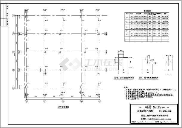 某压缩机厂房混凝土结构设计施工图-图2