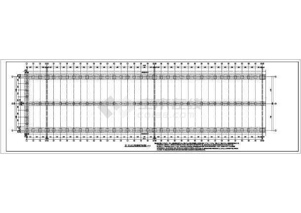 某地单层砼排架柱轻钢屋面厂房结构施工图