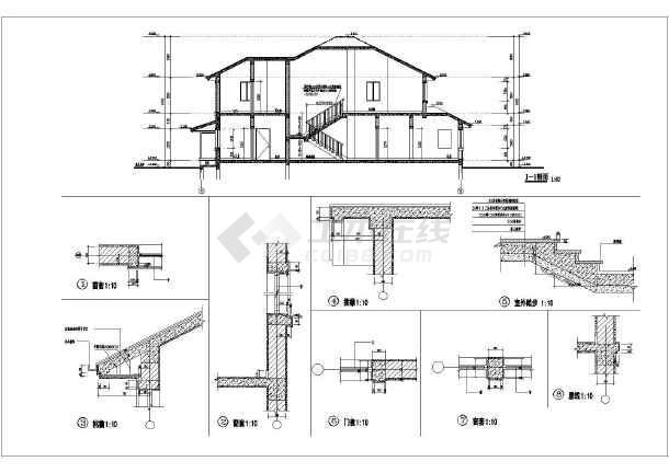 某地两层坡屋顶别墅建筑设计方案图
