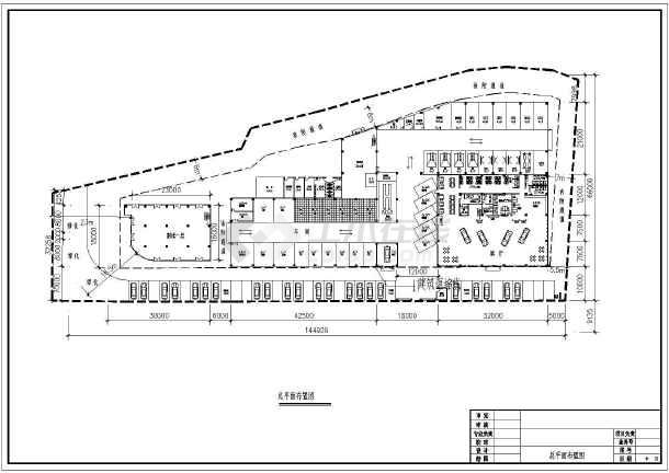 某地远景汽车4s店(广州本田)建筑设计施工图金属suv有二层图片