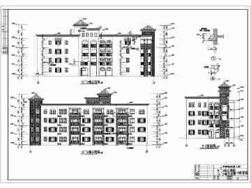 三亚某地多层欧式别墅建筑设计施工图