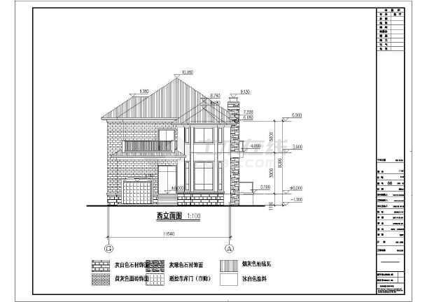 某地两层框架结构别墅建筑设计方案图纸