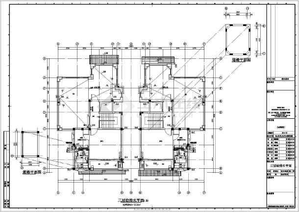 某双拼3层别墅给排水设计全套施工图