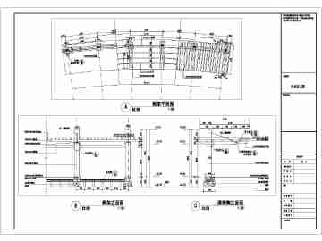 某经典弧形花架的景观设计施工图纸