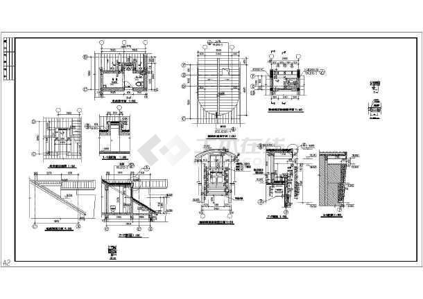 建筑结构图纸改造加固设计施工图纸_cad楼梯处理毕业设计环境工程图纸尾气焚烧图片