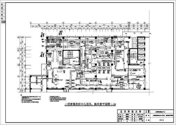 洁净空调和舒适性空调系统设计图,使用的是风机盘管系统和全空气系统.