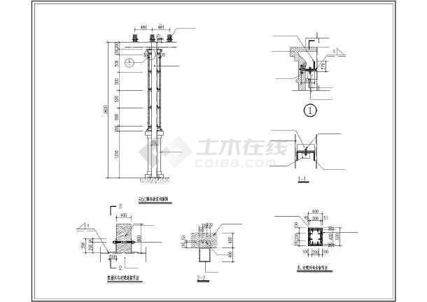 钢结构欧式建筑外墙,外立grc柱与石膏线装饰条施工图
