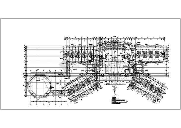 该图纸为武夷山某地四层酒店建筑设计平面图,平面效果宛如一架待飞