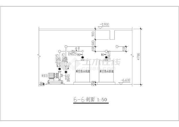 图纸 暖通设计图 中央空调 空调制冷机房设计图 揭阳岐山翠园六层住宅