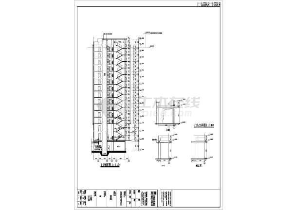 b户型平面图,楼梯大样图,卫生间大样图,节点大样图,凸窗大样图,门窗表