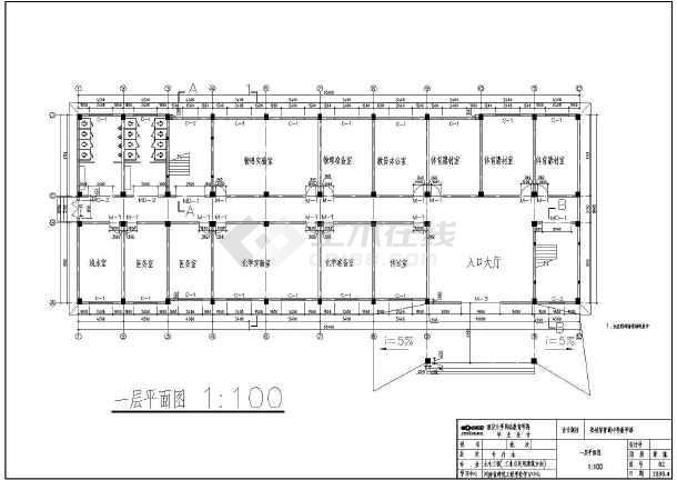 某五层中小学教学楼建筑毕业设计图
