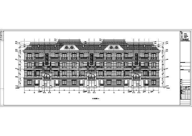 某5层剪力墙结构坡屋屋顶别墅洋房设计施工图