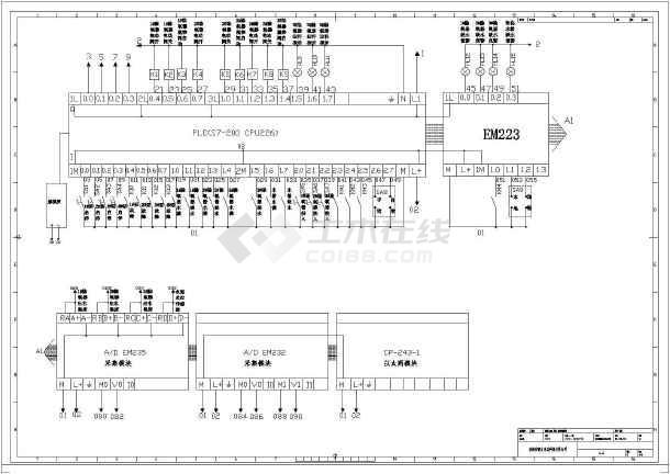 西门子plc模拟量模块的外部接线图
