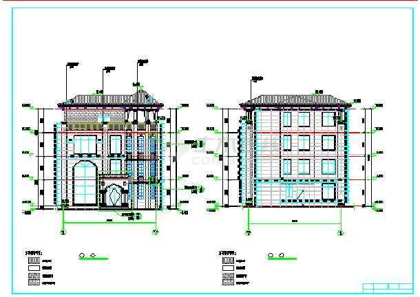 某别墅施工图框架结构施工图