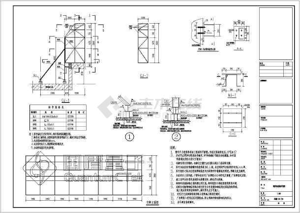 屋面发光字广告牌结构设计施工图纸_cad图纸有v屋面工程纸哪里卖图片