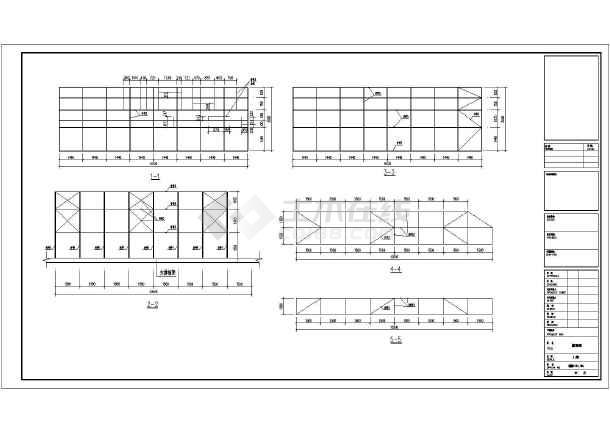 图纸发光字广告牌图纸设计施工结构_cad图纸屋面房建图例常用图片