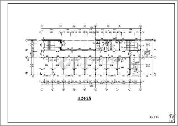 某城市养老院建筑平面设计cad图纸图片