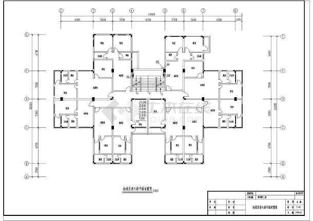 九层综合商住大楼消火栓cad设计施工图(该建筑有3座)-图1