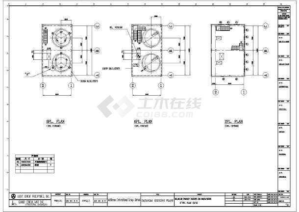 一套图纸厂房钢结构v图纸多层(尺寸cad、英文版cad全套不能修改双击图片