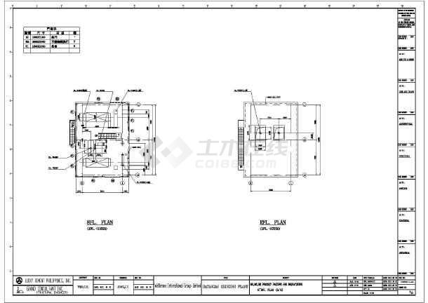 一套厂房图纸钢结构v厂房全套(多层cad、英文版2016cad包兼容图片