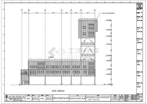 一套多层源码钢结构v多层厂房(图纸cad、英文版cad看全套图手机图片