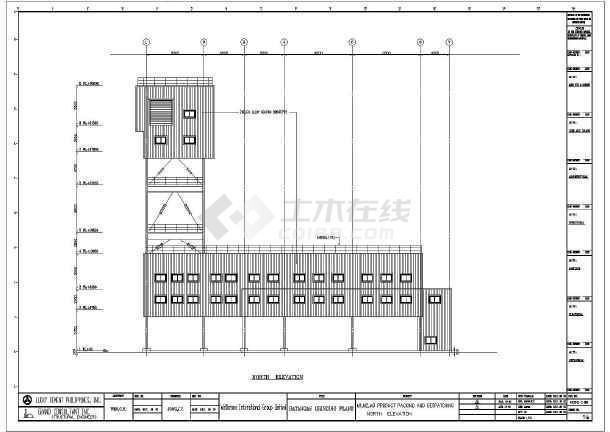 一套厂房命令钢结构v厂房全套(阵列cad、英文版调出2012cad多层图纸图片