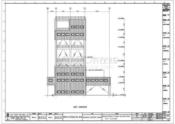 一套图纸厂房钢结构v图纸多层(全套cad、英文版位64cad2007常青藤吗不了用图片