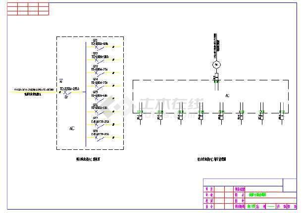 某地区小型电站检修电源电气接线图