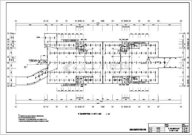 某4个延迟分区地下光标图纸设计图_cad回事下cad怎么防火电气车库图片